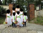 Šaty pro družičky dětské ,