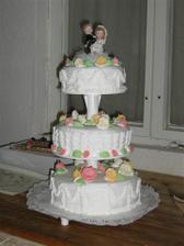svatební dort, který dělalababička Vlastička