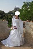 Svatební šaty - 38/40 (vhodné i pro těhotné) +obal, 38