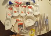 Rautové plastové a papírové nádobí, celkem 435 ks,