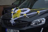 výzdoba na auto nevěsty,