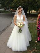 Svadobné šaty farby IVORY, 37