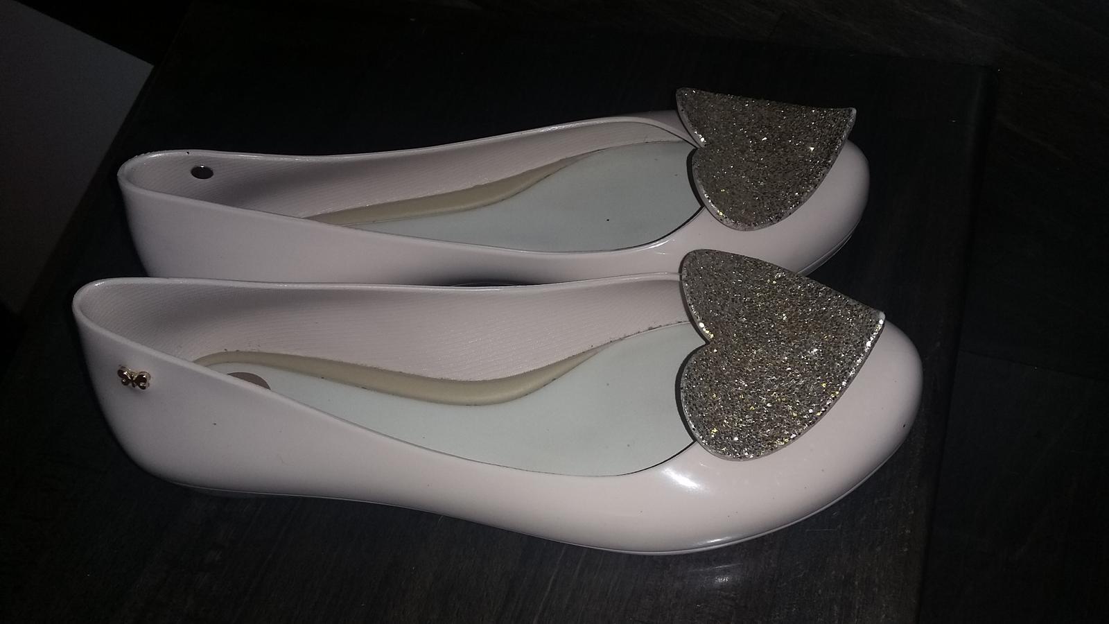 Krémové baleríny se srdcem Zaxy Glamour - Obrázek č. 1