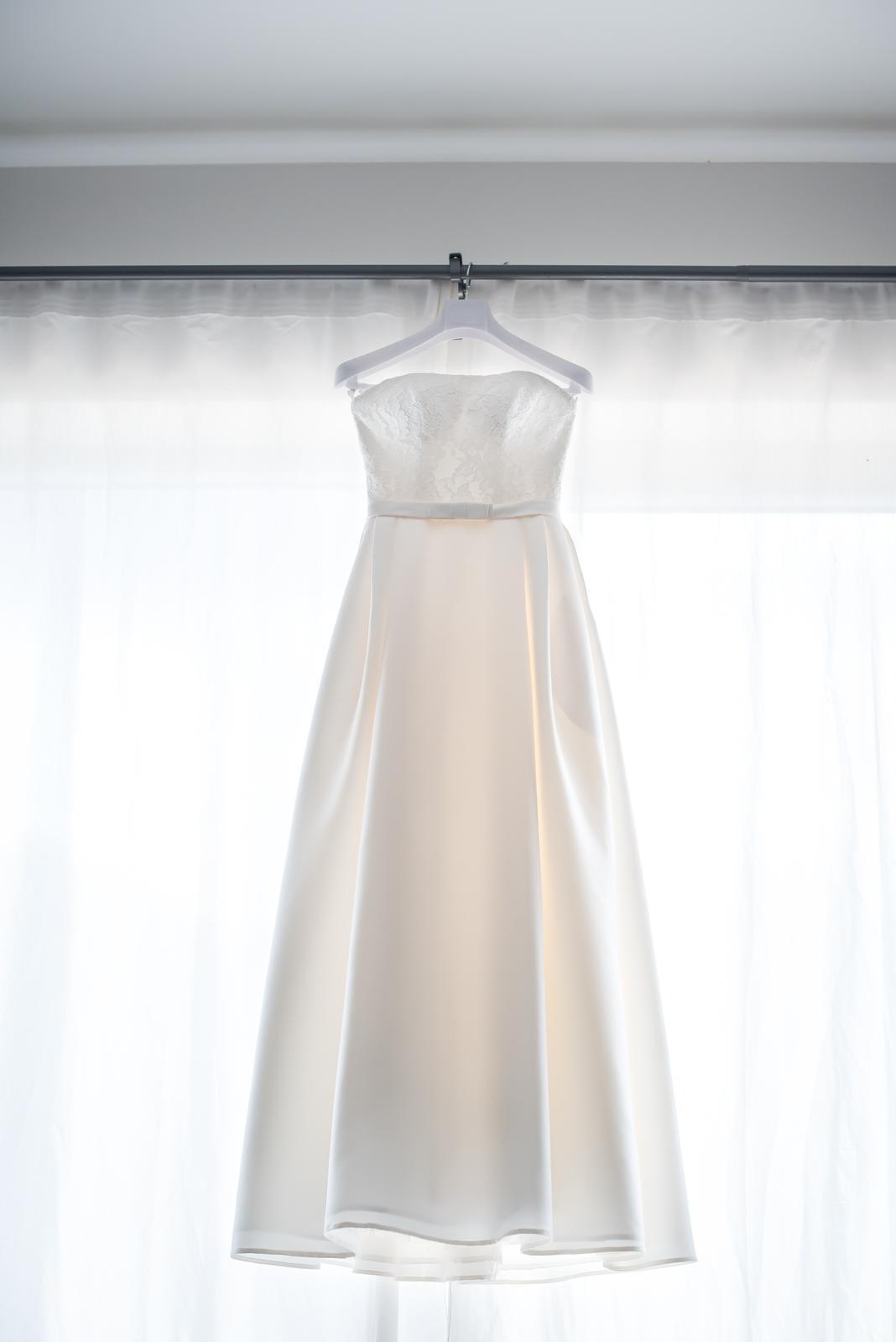 Svatební šaty barvy ivory vel. 36-40  - Obrázek č. 3