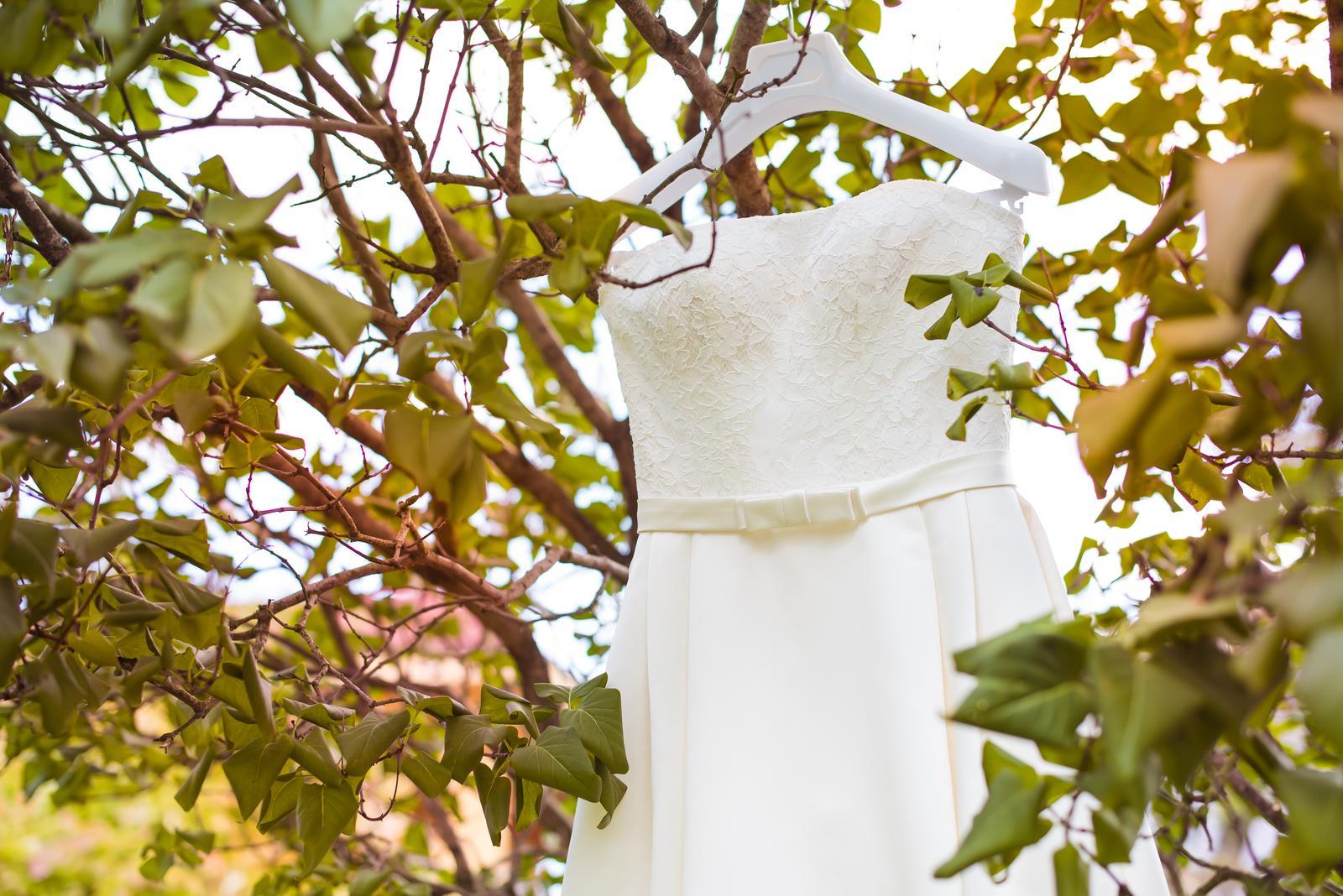 Svatební šaty barvy ivory vel. 36-40  - Obrázek č. 2