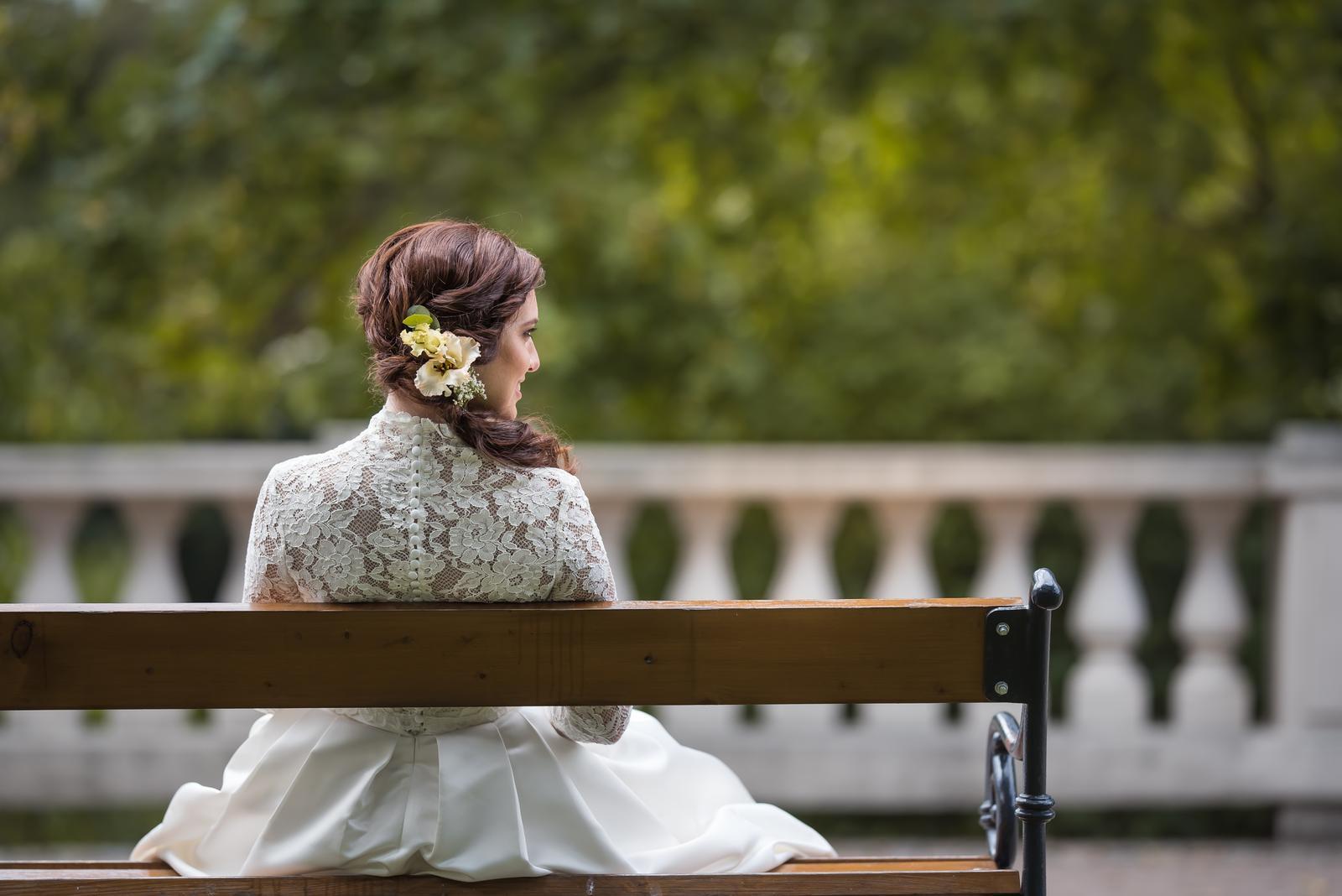 Svatební šaty barvy ivory vel. 36-40  - Obrázek č. 4