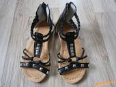 Černé páskové sandálky, 28