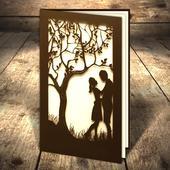 Svadobné oznámenia Pár pod stromom,