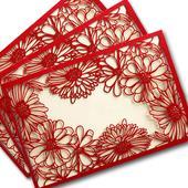 Svadobné oznámenia Červené kvety,