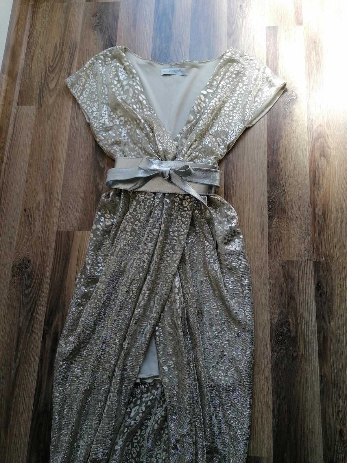 Zlaté popolnočné šaty talianskej znacky - Obrázok č. 1