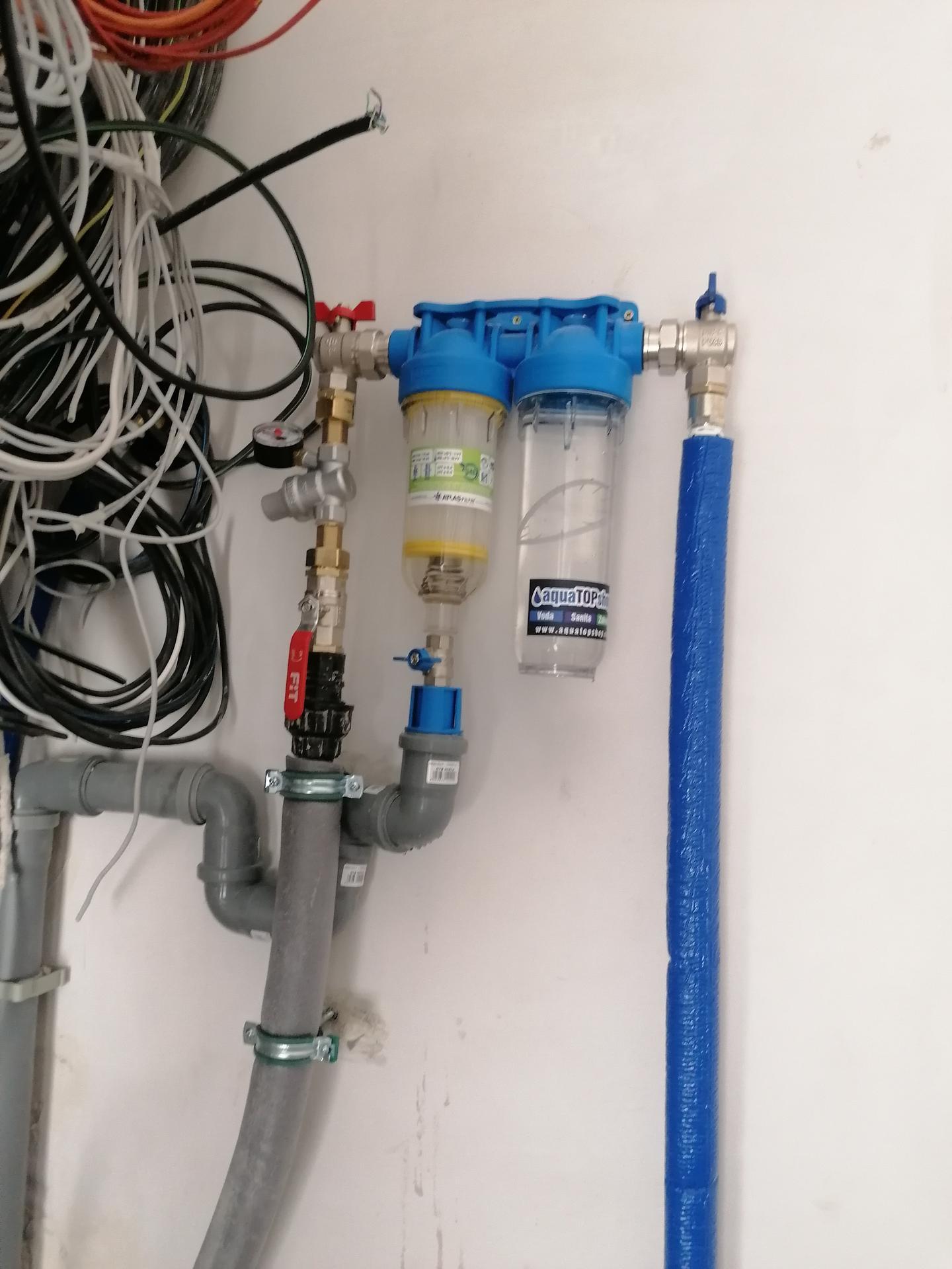 Pasiv Svépomocí 2020 - zapojení přívodu vody - hl. ventil, redukční ventil,filtry