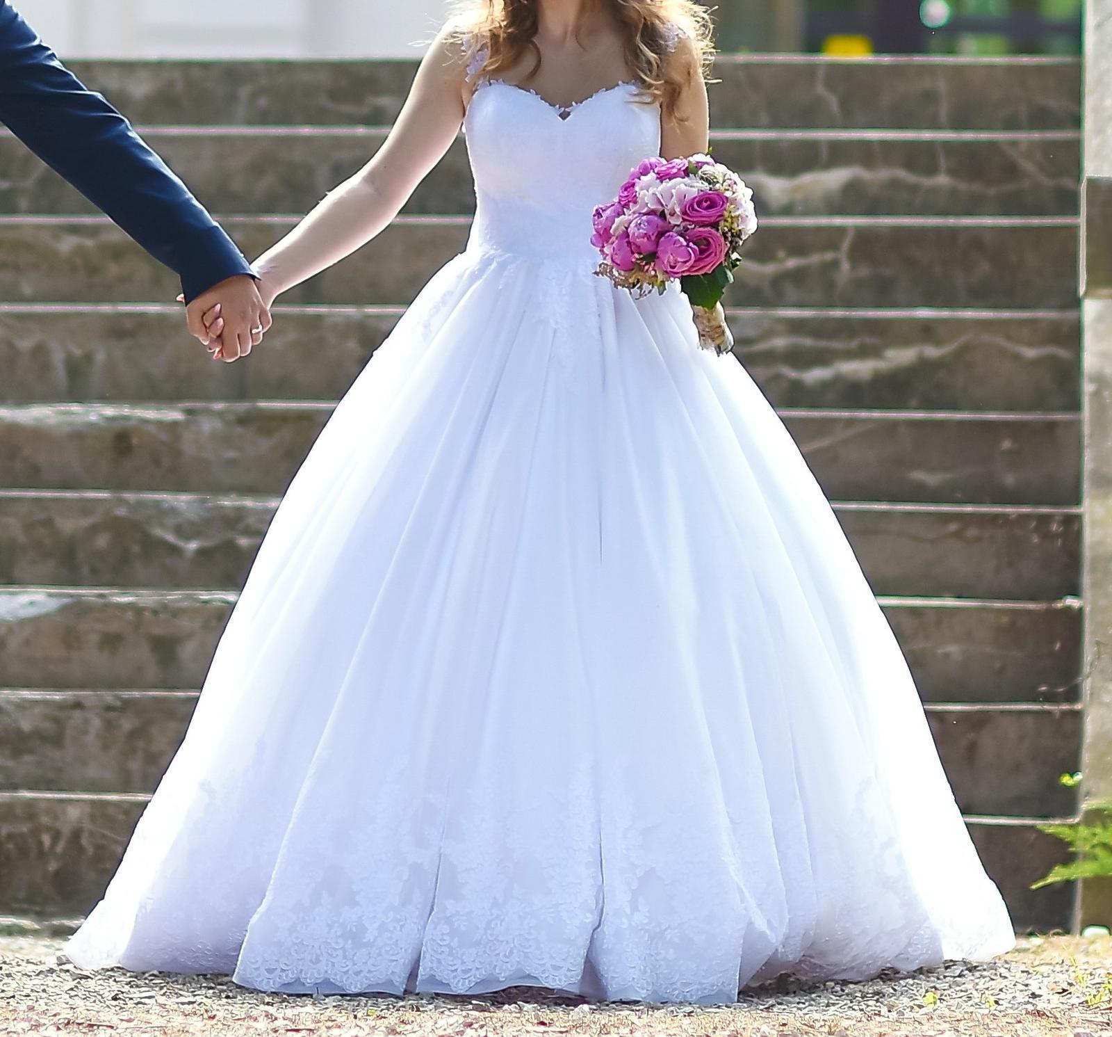 Princeznovské svadobné šaty (34-38) - Obrázok č. 1