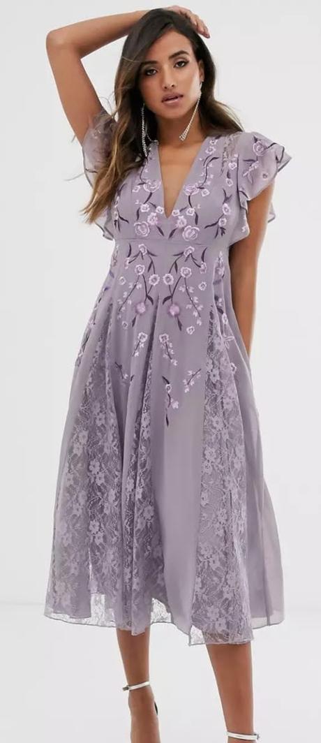 Fialové vyšívané šaty - Obrázok č. 1