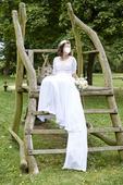 Originální svatební šaty, Boho styl, 38