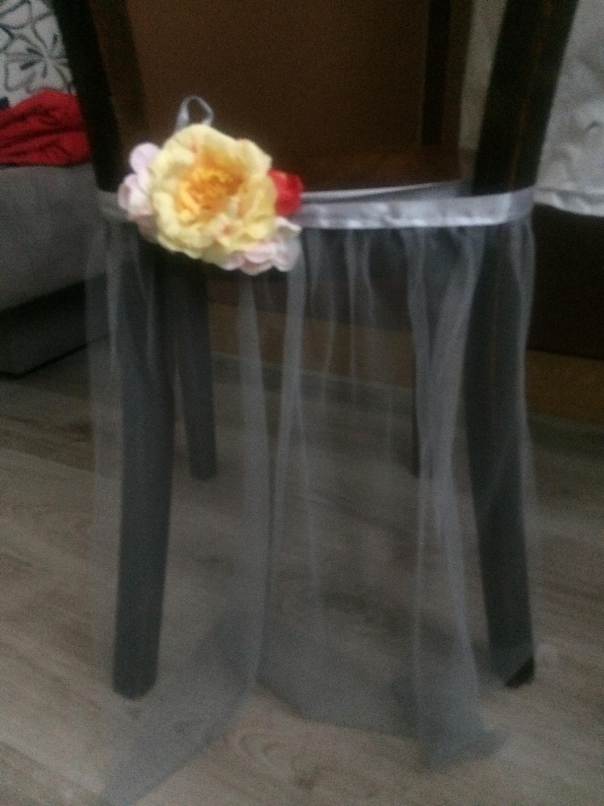 """tylove """"sukničky"""" na stoličky - Obrázok č. 1"""