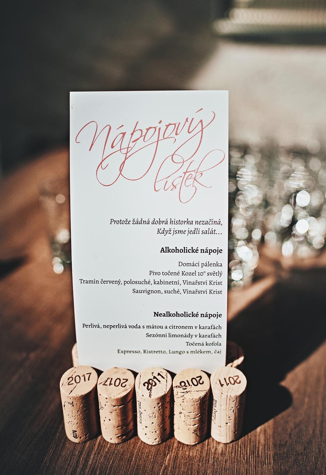 Korkové stojánky na menu - Obrázek č. 1