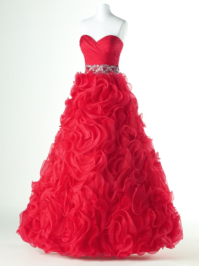 Popolnočné šaty Flirt SCARLET - Obrázok č. 2