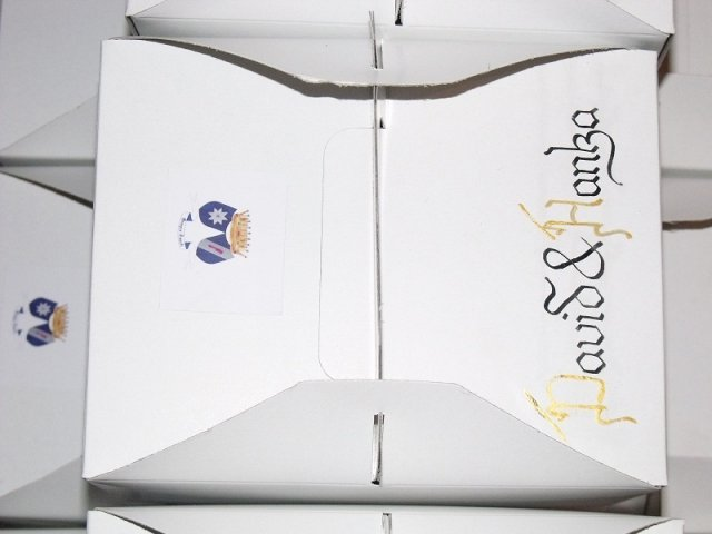 Postupné přípravy - detail krabičky