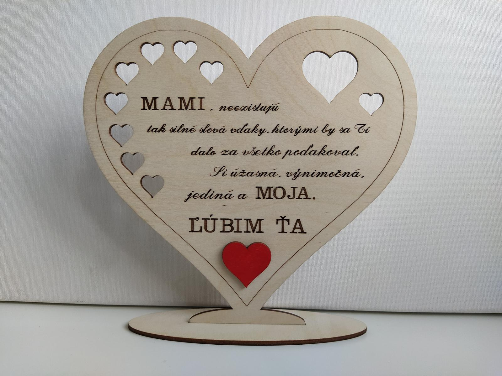 2 drevené srdiečka pre Mamičku a Ocka - Obrázok č. 2