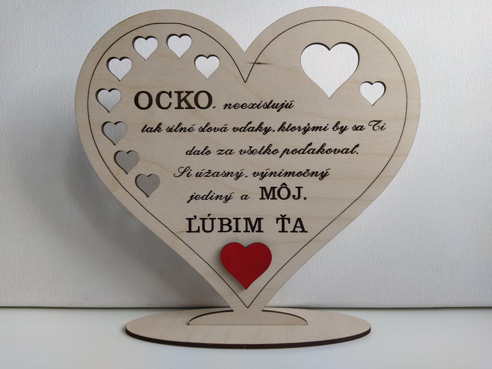 2 drevené srdiečka pre Mamičku a Ocka - Obrázok č. 3