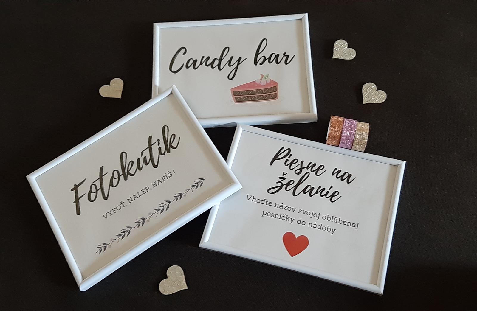 Rekvizity - rámčeky a aktivity & Candybar - Vtipné nápisy - Obrázok č. 1