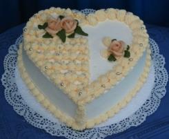 naša svadobná torta,stačí,malá,ale milá