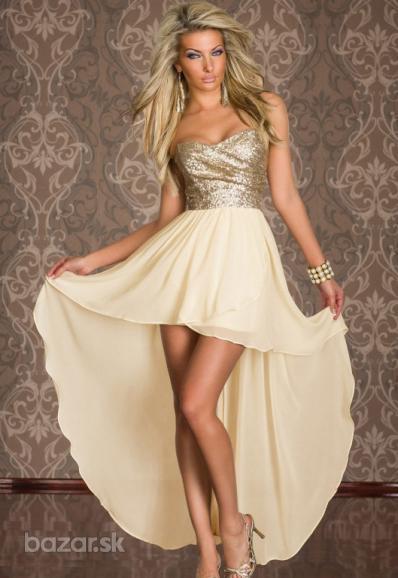 Zlaté spoločenské šaty  - Obrázok č. 1