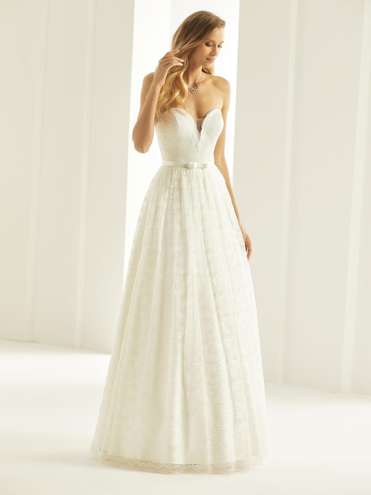 boho celokrajkové svatební šaty velmi. 38 - Obrázek č. 1