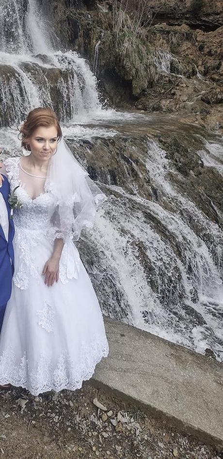 Svadobné princeznovské šaty (36-38) KOMPLET, výška 160-165cm - Obrázok č. 4