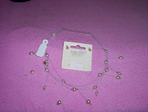 """Moje """"šperky"""" - náhrdelník a naušničky"""