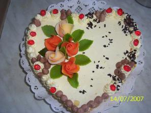 Dalším dortem bude srdíčko, podobné tomuto