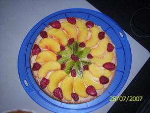 A ještě jeden dort ovocný, pro lidičky, co nemusí s krémem