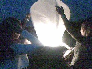 zkouška lampionu přání