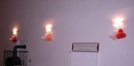 dekorace sálu (sál se nachází ve vesnici Chraberce u Loun)