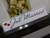 svadobná špz JUST MARRIED,