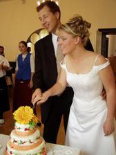nakrojení dortu