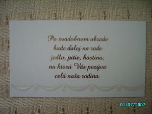 ...a pozvánky