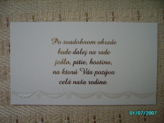 Lucka & Andrej - ...a pozvánky
