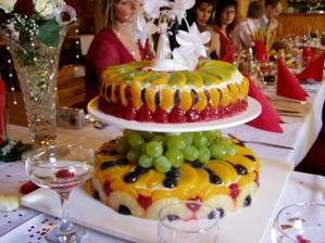 náš svatební dortík, byl výborný