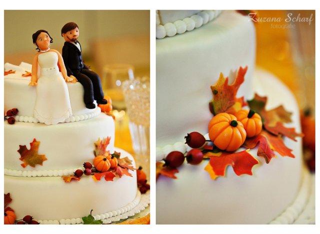 M.{{_AND_}}A. - podzimní svatební dort