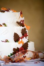 svatební dort - volná inspirace, podzimní tématika, listí...