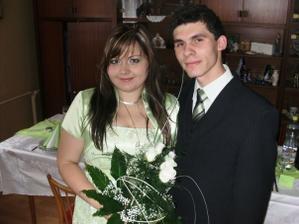Už snúbenci Monika a Janko.