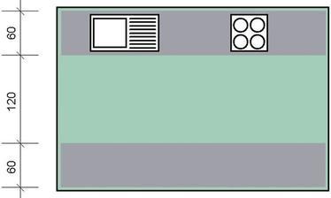 """Trojuholníky si v rámci tréningu """"vidieť trojuholník v svojej budúcej kuchyni"""" môžete iniciatívne dokresliť (len nie priamo na monitor :-D)"""