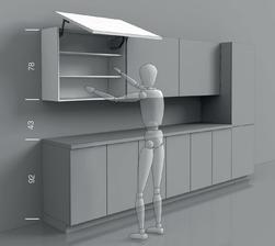 Tieto ergonomické modely sú prevzaté od talianskeho výrobcu kuchýň Del Tongo
