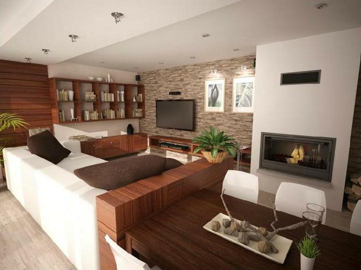 Obývací pokoj s kuchyní a jídelnou - Obrázek č. 18