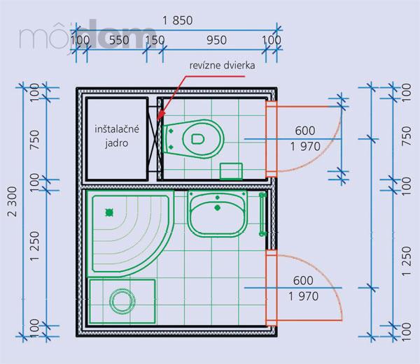 Kúpelne-parametre + zaujímavosti - bytové jadro 3 + rozmery