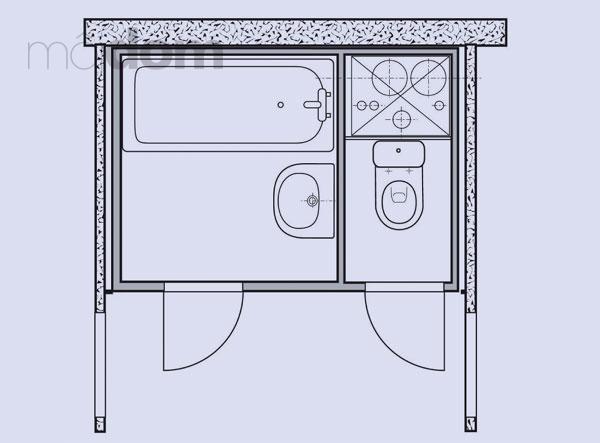 Kúpelne-parametre + zaujímavosti - bytové jadro 1 - rozloženie sanity