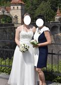 Svatební šaty vel. 46 (ale i 44, možná i 48), 46