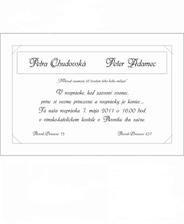 Text vo vnútri svadobného oznámenia :)