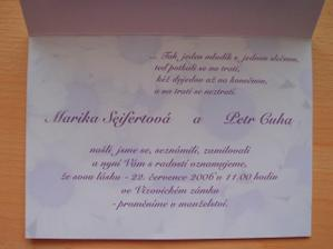 text svatebního oznámení